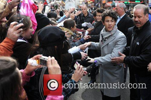 Kevin Jonas, Nick Jonas The Jonas Brothers visit...