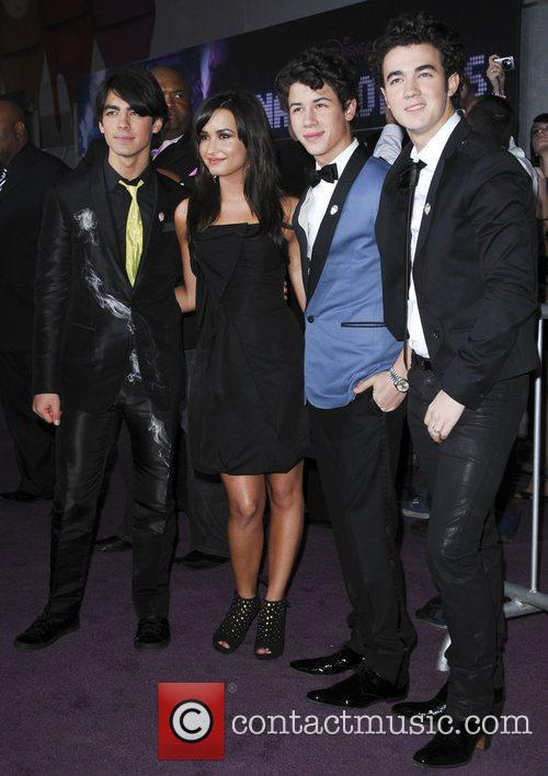 Demi Lovato and The Jonas Brothers Los Angeles...