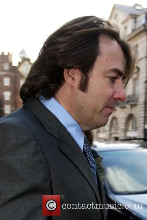 Jonathan Ross showing his Receding Hair Line and...