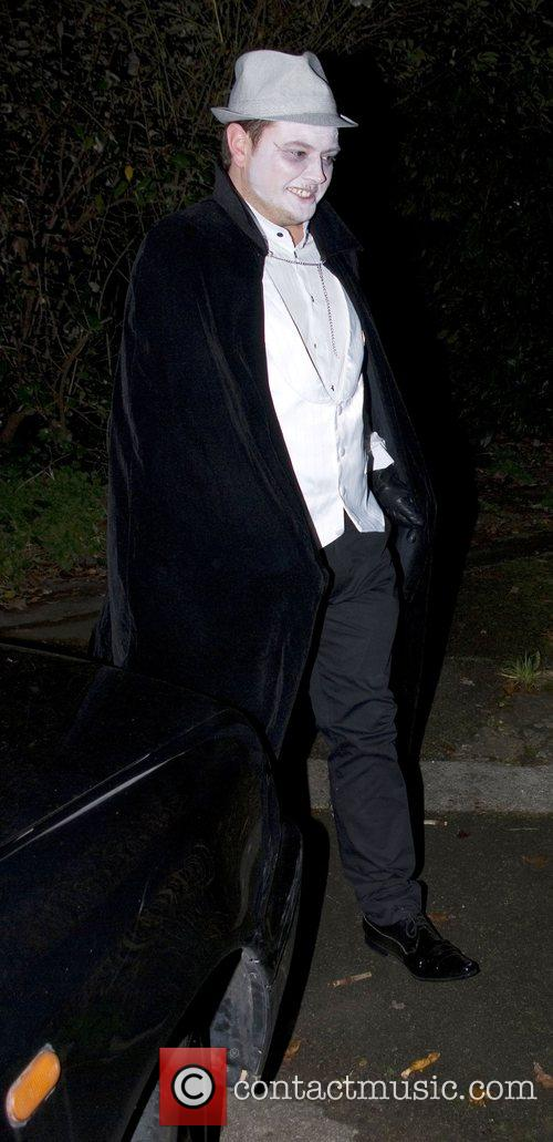 Alan Carr arriving at Jonathan Ross's Halloween Party....