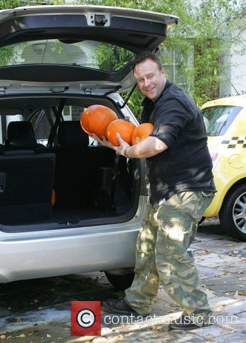 Friends of Jonathan Ross deliver pumpkins to his...