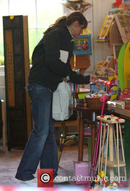 Jools Oliver shopping in a toy shop in...
