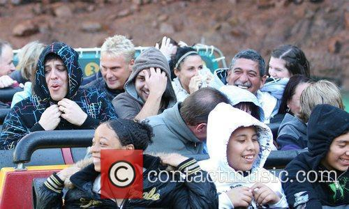 Katie Price aka Jordan enjoys a day out...