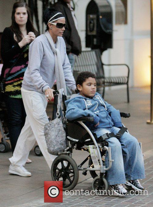 Katie Price, Harvey Price At The Grove. They Eat Lunch At The Cheesecake Factory and Then Stop At Victoria's Secret. 7