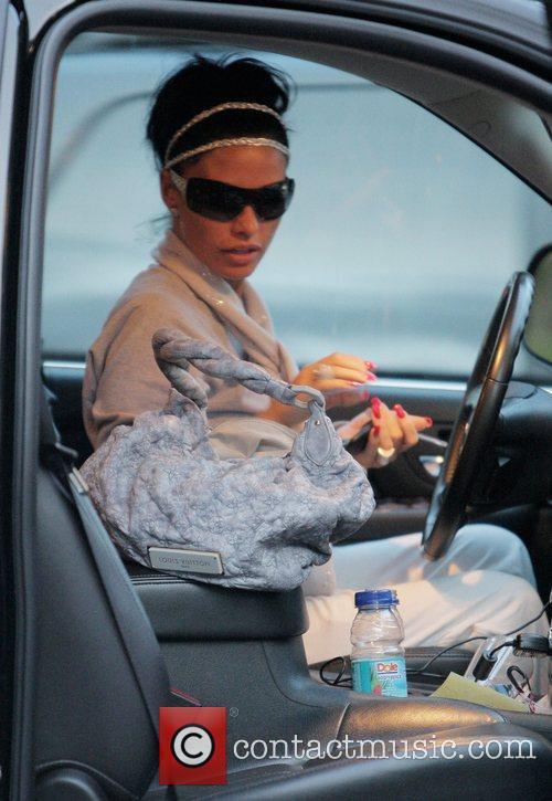katie price aka jordan in her car at the grove. 2278771