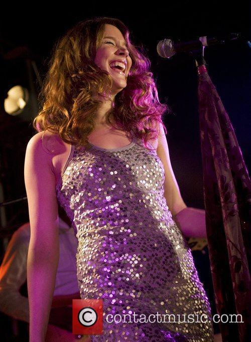 Joss Stone performing live on stage at Liverpool...