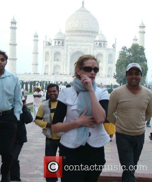 Doing some sightseeing at the Taj Mahal with...