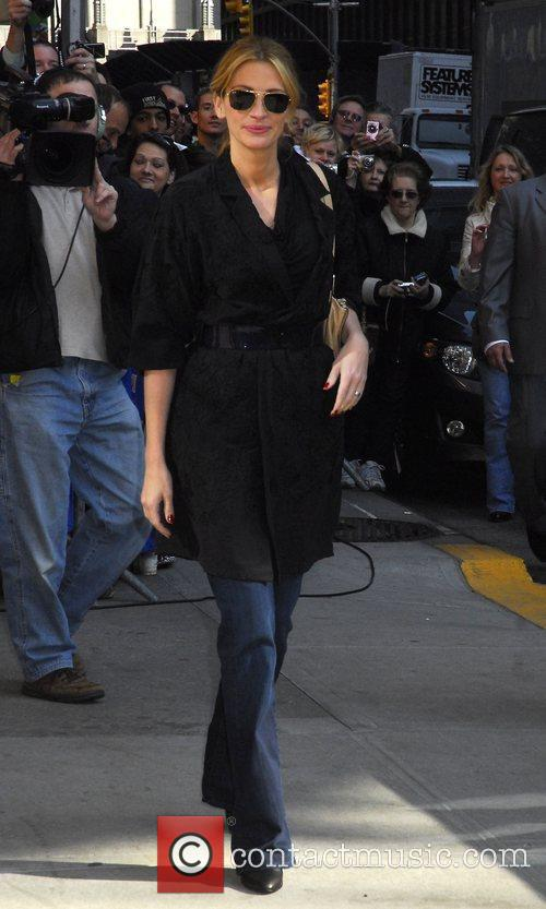 Julia Roberts, David Letterman and Ed Sullivan Theatre 2