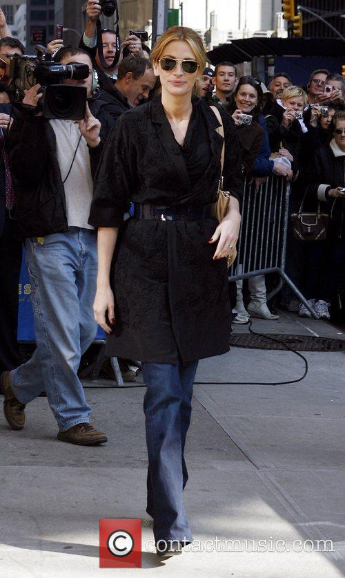 Julia Roberts, David Letterman and Ed Sullivan Theatre 11