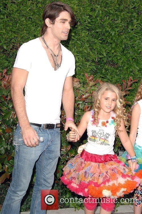 Justin Gaston and Noah Cyrus attend the celebrity...