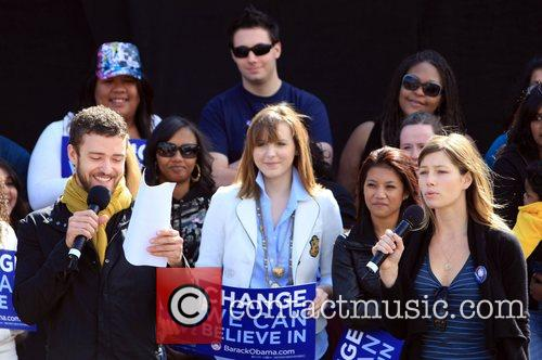 Justin Timberlake and Jessica Biel attends the Last...