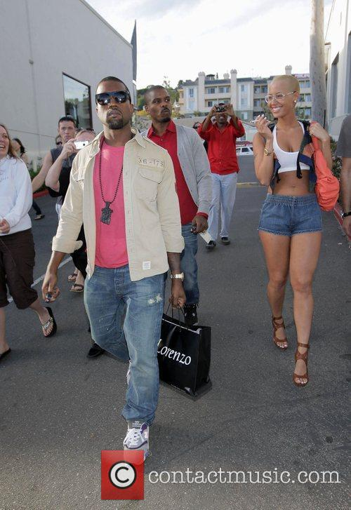 Kanye West, His New Girlfriend Amber Rose Go Shopping At H Lorenzo Boutique and Have Lunch At La Petite Four. 9