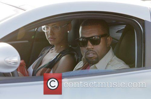 Kanye West, His New Girlfriend Amber Rose Go Shopping At H Lorenzo Boutique and Have Lunch At La Petite Four Before Driving Off In His 800k Usd Mercedes Mclaren Slr. 4