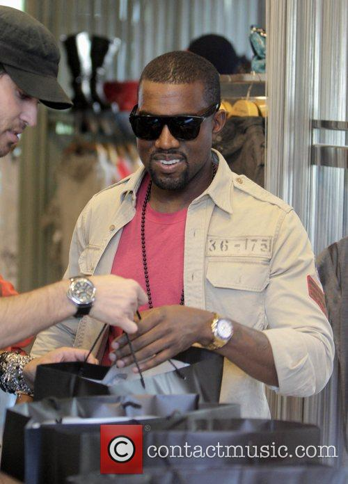Kanye West, His New Girlfriend Amber Rose Go Shopping At H Lorenzo Boutique and Have Lunch At La Petite Four. 3