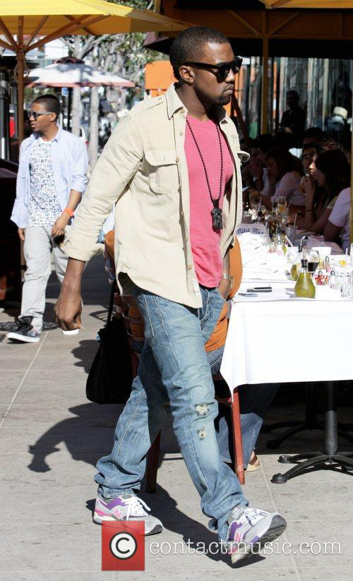 Kanye West, His New Girlfriend Amber Rose Go Shopping At H Lorenzo Boutique and Have Lunch At La Petite Four. 2