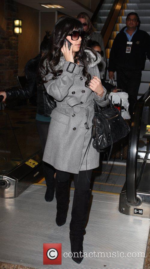Kim Kardashian arriving at Salt Lake City Airport...