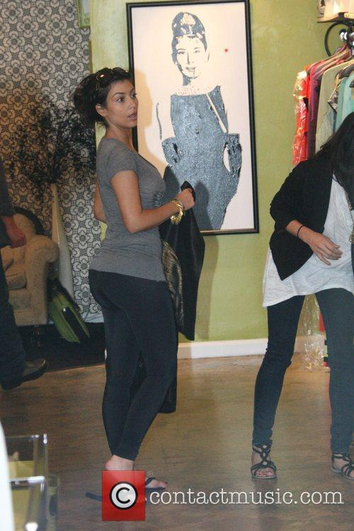Kim Kardashian and sister Khloe Kardashian go shopping at Sielians a boutique store famous