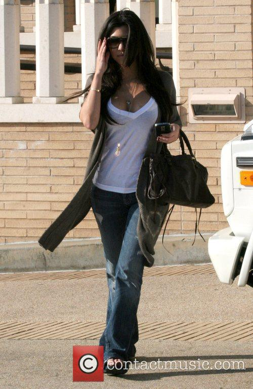 Kourtney Kardashian goes shopping at Sielians, a boutique...