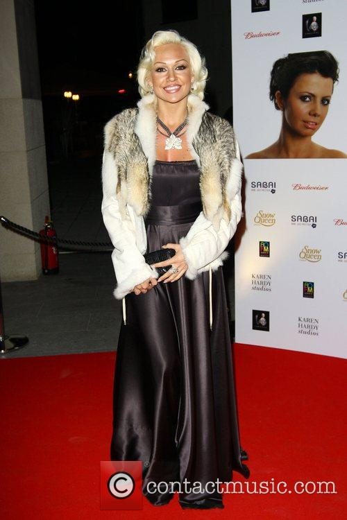 Kristina Rihanoff attends a party for the launch...