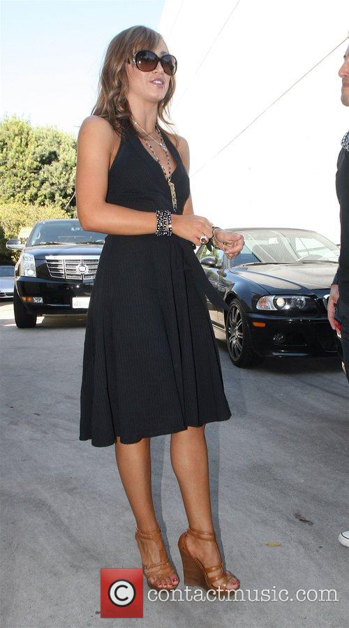 Karina Smirnoff from Dancing With The Stars arrives...