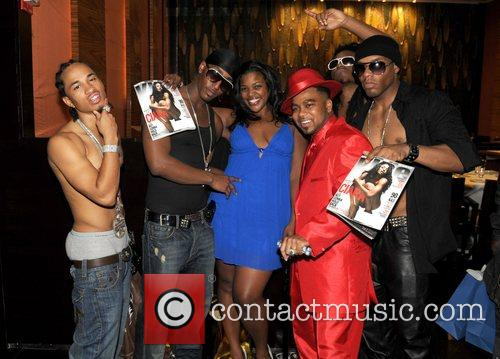 Pretty Ricky and publicist Jessyka Phorbes Grand re-opening...