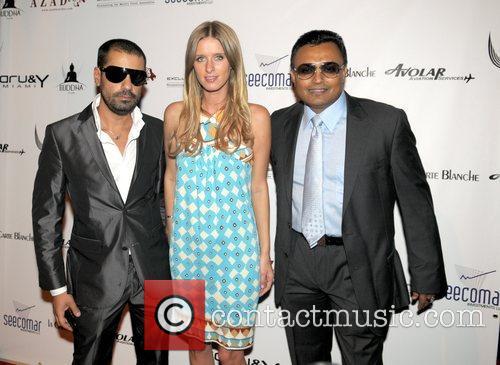 Leenass Mirbagheri, Nicky Hilton and Clive Seecamar Saturday...