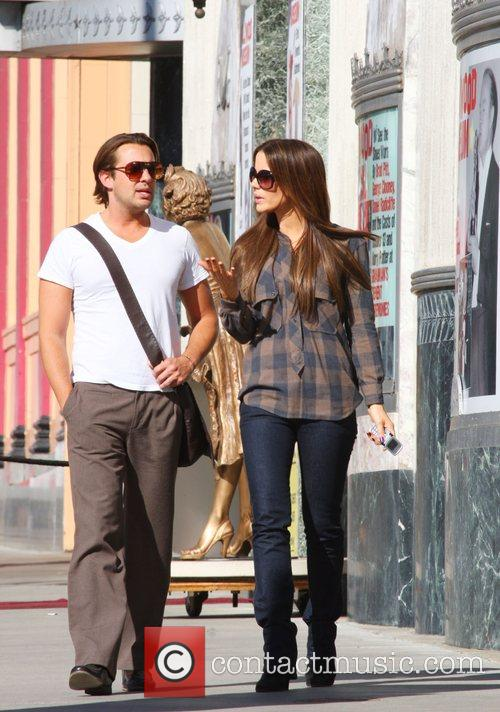 Kate Beckinsale and a friend visit the Hollywood...