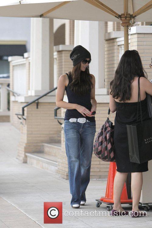 Leaving Barneys New York in Beverly Hills