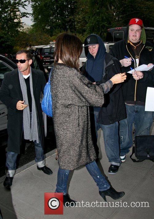 Kate Beckinsale arrives at her hotel New York...