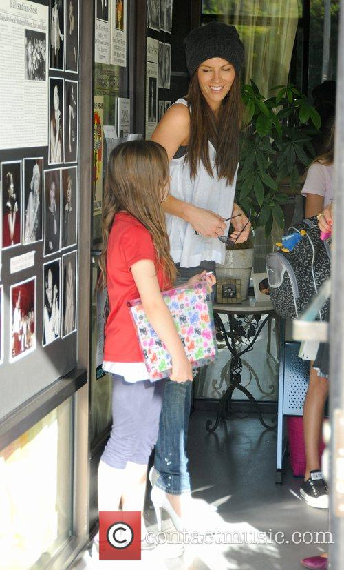 Kate Beckinsale has lunch with her daughter Lily...