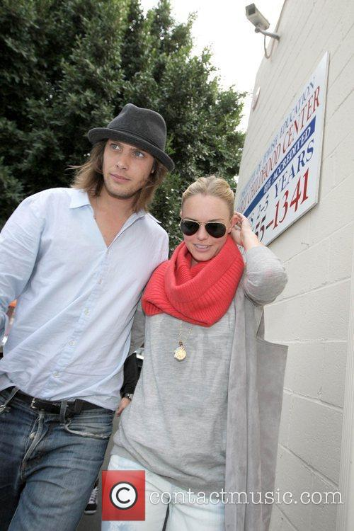 James Rousseau and Kate Bosworth leaving Joans on...