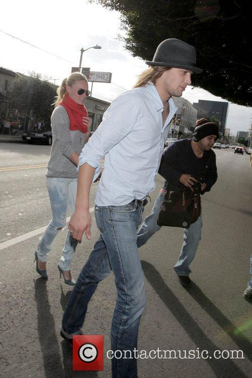Kate Bosworth and James Rousseau leaving Joans on...