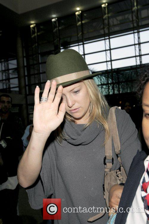 Kate Hudson departs from LAX Los Angeles, California