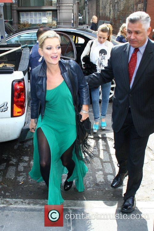 Arriving at the Topshop New York flagship store...