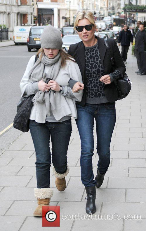Kate Moss  arriving at the Claridge's Hotel...