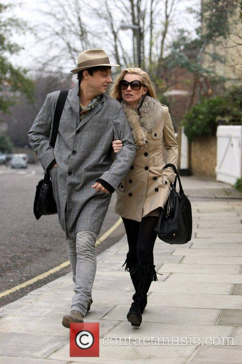 Jamie Hince and Kate Moss seen out walking...