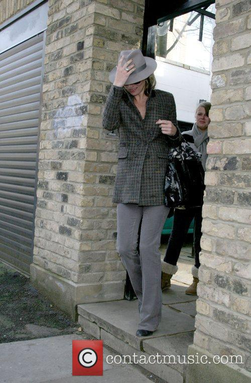 Kate Moss leaving her house London, England