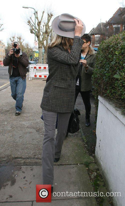 Kate Moss and Jamie Hince arriving home London,...