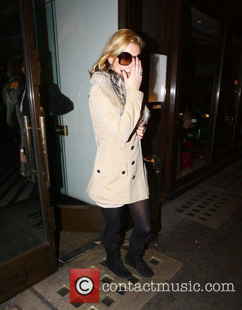 Leaving Cecconi's restaurant in Mayfair
