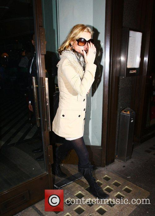 Kate Moss leaving Cecconi's restaurant in Mayfair London,...