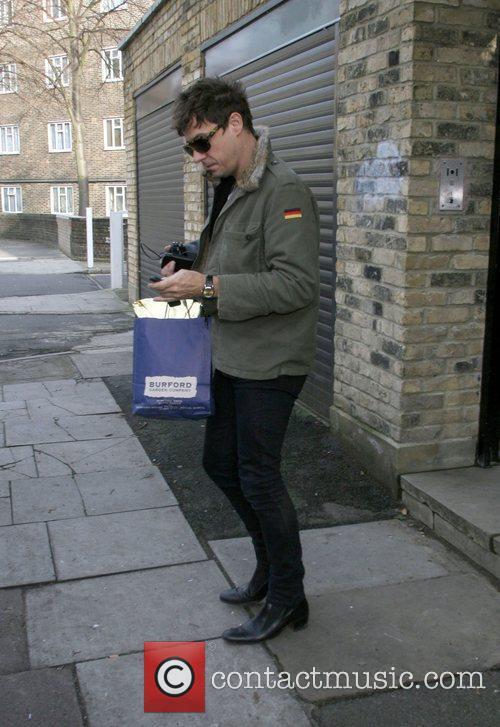 Jamie Hince leaving Kate Moss' house London, England
