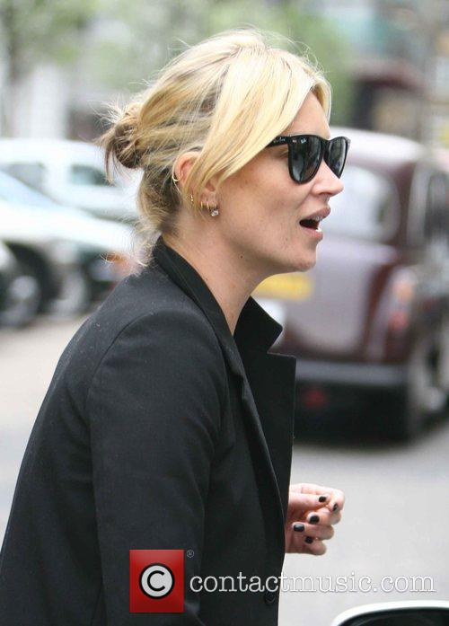 Kate Moss leaving the London Clinic consulting rooms...