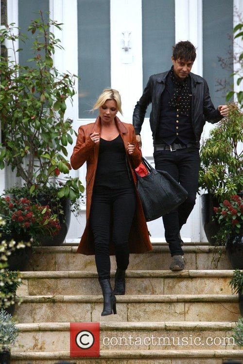 Kate Moss and Jamie Hince leaving Sadie Frost's...