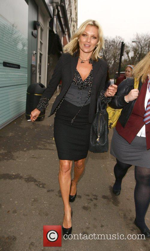 Kate Moss walking to the pub after filming...