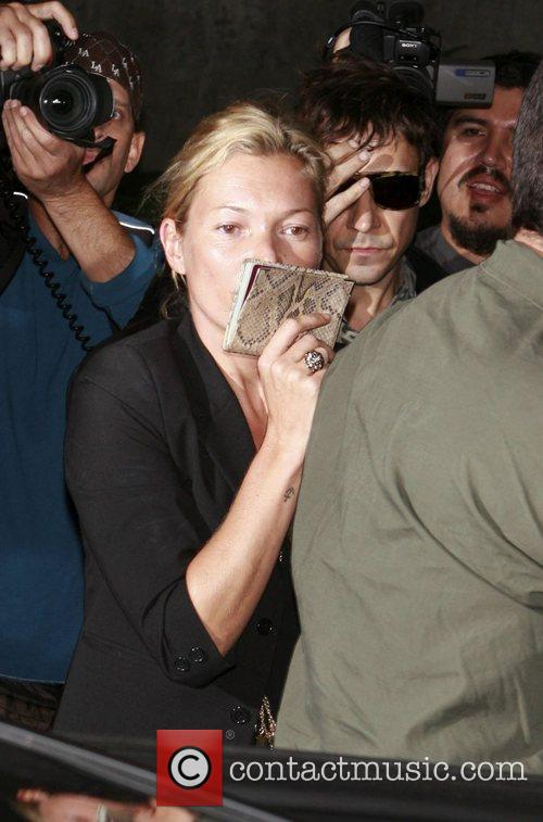 Kate Moss and Jamie Hince arriving at LAX...