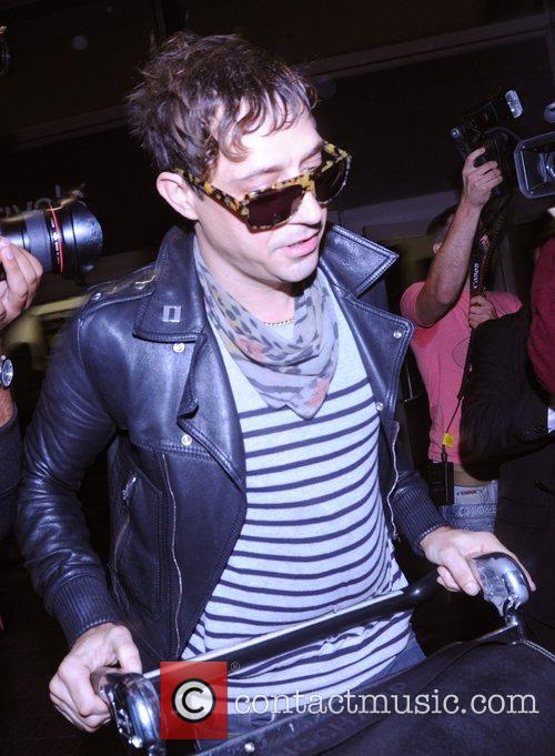 Jamie Hince arrives at LAX airport Los Angeles....