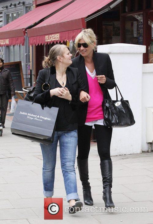 Kate Moss and a friend go shopping in...