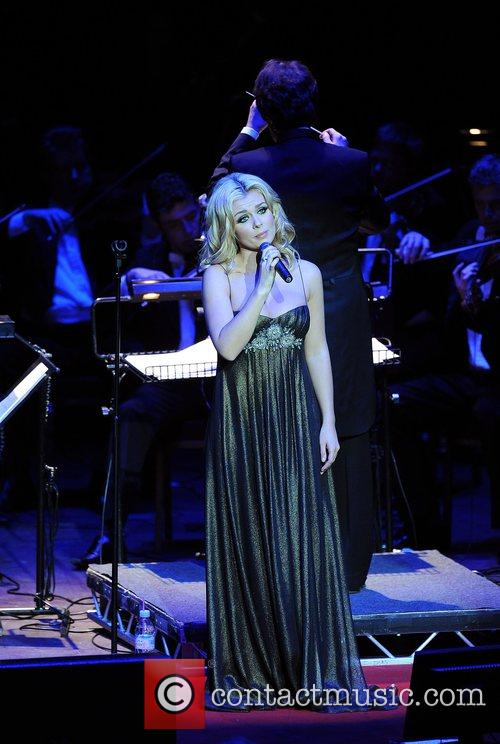 Katherine Jenkins peforming at the Royal Albert Hall...