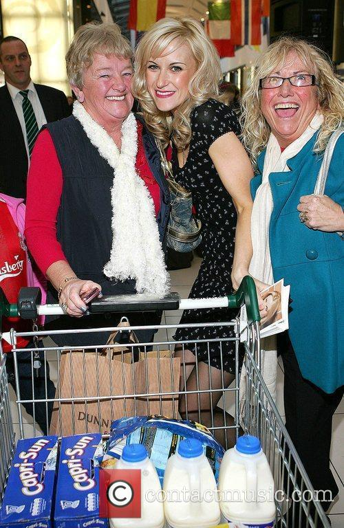 Katherine Kelly and fans at The Charlestown Shopping...