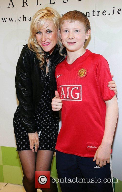 Katherine Kelly and fan Cameron Ashwood at The...